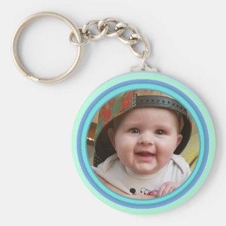 Llavero personalizado adorable de la foto del bebé
