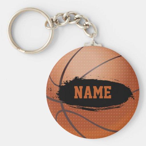 Llavero personalizado baloncesto del Grunge