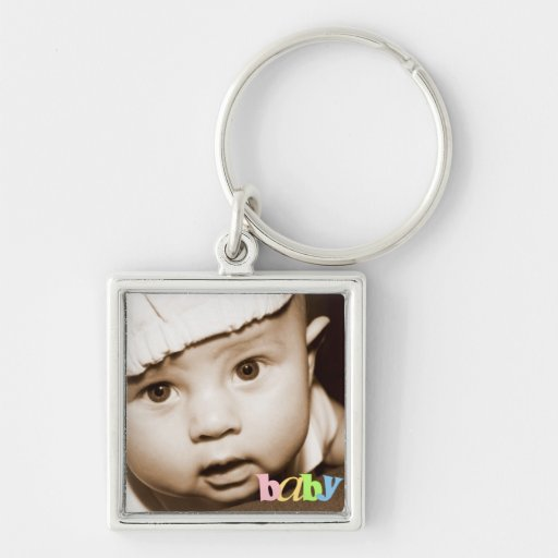 """Llavero personalizado """"bebé"""" de la foto en arco ir"""