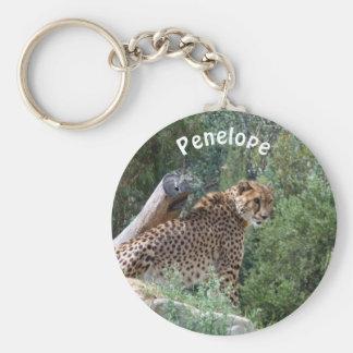 Llavero personalizado del guepardo