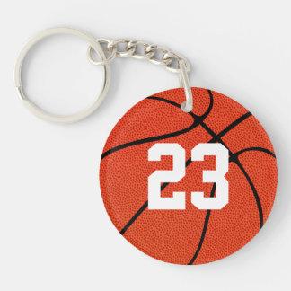 Llavero Personalizado del número del jersey del jugador de
