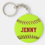 Llavero personalizado del softball