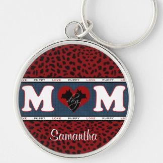 Llavero personalizado mamá del estampado leopardo