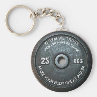 Llavero Peso del vintage del entrenamiento de la aptitud
