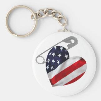 Llavero Pin de seguridad americano