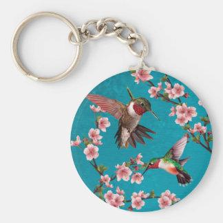 Llavero Pintura del colibrí del estilo del vintage