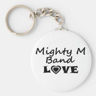 Llavero poderoso del amor de la banda de M