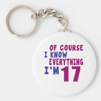 Llavero Por supuesto sé que todo soy 17