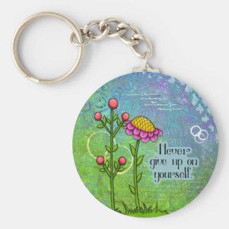 Llavero positivo adorable de la flor del Doodle