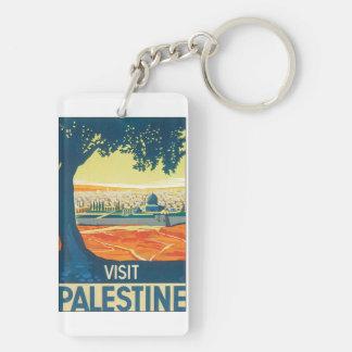Llavero Poster del viaje del vintage de Palestina de la