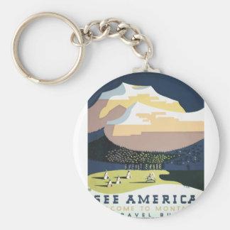 Llavero Poster Montana América los E.E.U.U. del viaje del