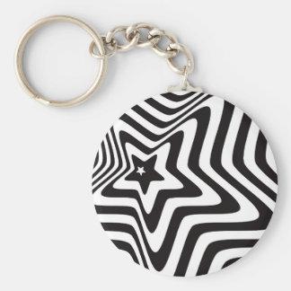 Llavero producto con vector blanco y negro de la ilusión