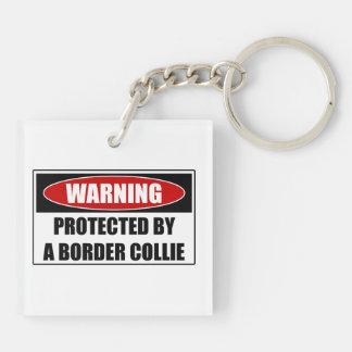 Llavero Protegido por un border collie