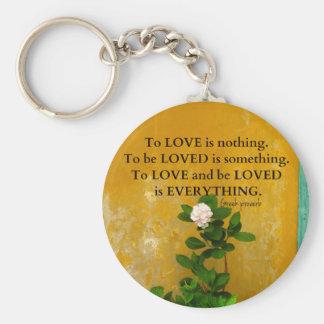 Llavero proverbio del Griego de la cita del amor del