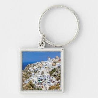 Llavero Pueblo de Oia en la isla de Santorini, del norte,