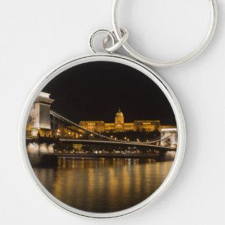 Llavero Puente de cadena y castillo de Budapest