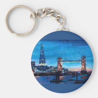 Llavero Puente de la torre de Londres con el casco