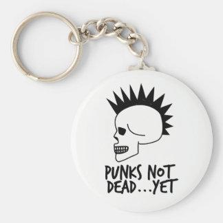 Llavero Punks no absolutamente… con todo blanco del cráneo