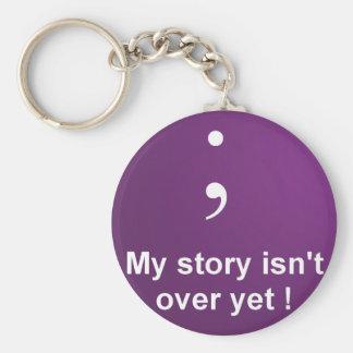 """Llavero Punto y coma - """"mi historia no está sobre todavía"""""""