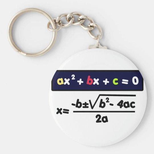 Llavero Quadratic equation