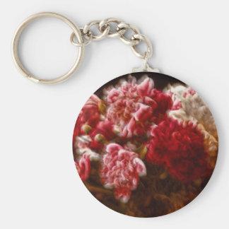 Llavero Ramo rojo llameante de la flor del Peony