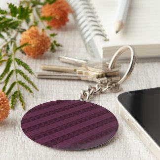 Llavero Rayas carmesís con clase - rojo y púrpura