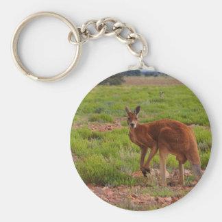 Llavero redondo del canguro rojo australiano
