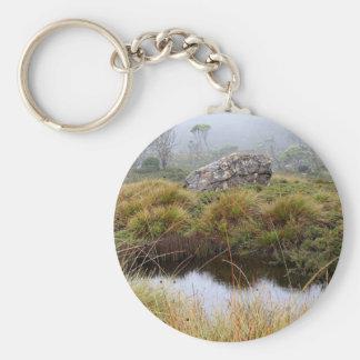 Llavero Reflexiones brumosas de la mañana, Tasmania,