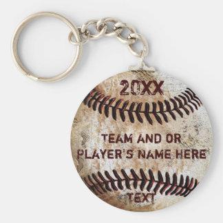Llavero Regalos PERSONALIZADOS del béisbol para los