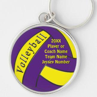 Llavero Regalos púrpuras y amarillos personalizados del