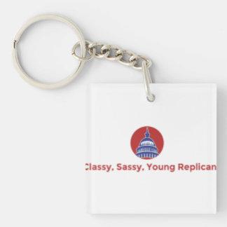 Llavero republicano con clase, descarado, joven