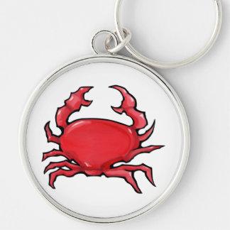 Llavero rojo del premio del cangrejo