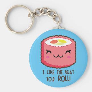 Llavero Rollo de sushi de Emoji