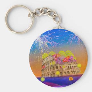 Llavero Roma celebra la estación con las pelotas de tenis,