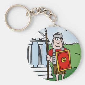 Llavero romano del dibujo animado de la historia