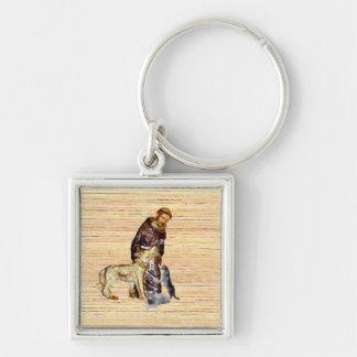Llavero Santo/monje con los animales (religiosos)