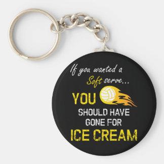 Llavero Si usted quiso un suave sirva el helado - voleibol
