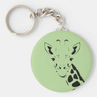 Llavero Silueta de la cara de la jirafa