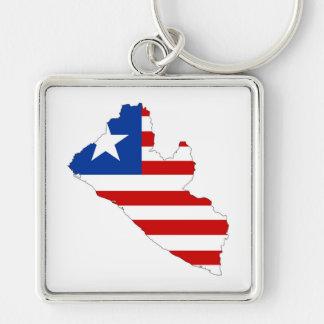 Llavero símbolo de la forma del mapa de la bandera de país