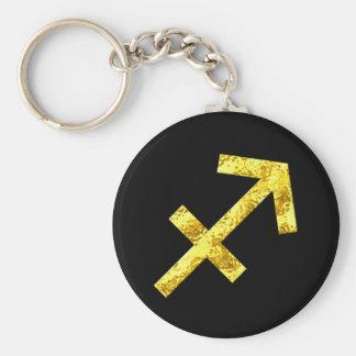 Llavero Símbolo del oro del negro de la muestra del
