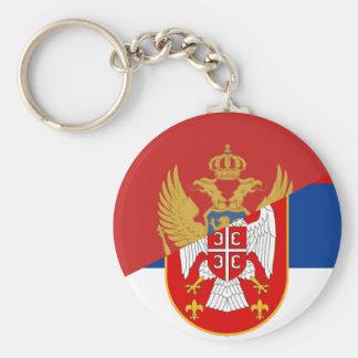 Llavero símbolo del país de la bandera de Serbia