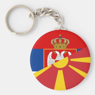 Llavero símbolo del país de la bandera de Serbia Macedonia