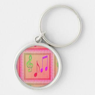 Llavero Símbolos musicales de baile