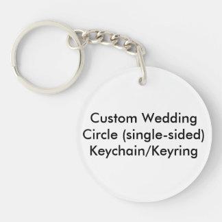 Llavero singlesided/llavero del círculo de encargo