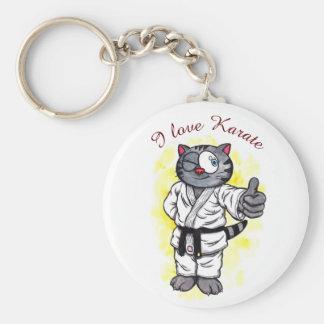 Llavero Situación y sonrisa del gatito del karate