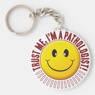 Llavero Smiley de la confianza del patólogo