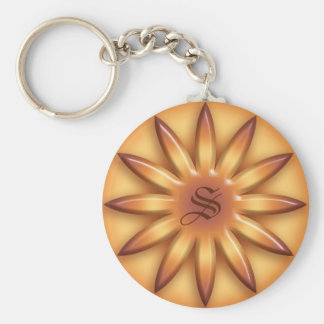 Llavero Sol étnico. Textura geométrica de la pendiente