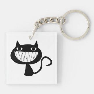 Llavero sonriente lindo de Halloween del gato
