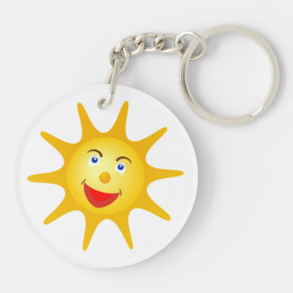 Llavero Sonrisa Sun amarillo lindo