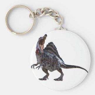 Llavero Spinosaurus que se pone en cuclillas y que mira a